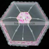 Elegant circular single strand of beautiful pink series washable anti-mosquito dish cover food table