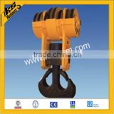 Double hook for crane hook block