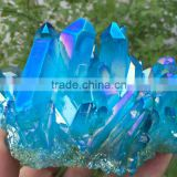 beautiful blue prism with pyramid end crystal cluster