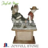 Boy and Girl Marble Garden Statue Carving