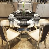 Dining room 8 seater metal table malaysia dining marble table