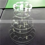 round rotating acrylic pen display stand