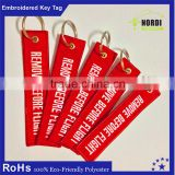 2016 personalized embroidered keychain key chain luggage tags /bag tag /key tag