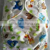 2016 new naughty baby brand pocket cloth diaper popular cartoon print infant baby diaper nappy cover