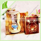Sport time Sense-Of-Timer Hour Glass Shape Sand Timer // Wooden base Lovely Rabbit 4 hours hourglass sand timer