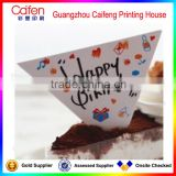 Most Creative triangle birthday cake paper card,decorative paper card