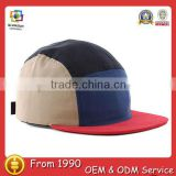 Muti-colour blank snap back hats 5 panel flat brim nylon 5 panel flat hat