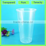 disposable plastic cup cold bubble milk tea cup and plastic milk blend cup factory offer