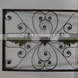handicrafts home wall decor fleur de lis panel fence iron window grill,iron window design,wrought iron window grill design