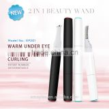 New arrival 2 in 1 beauty wand with warm under eye micro massager and heated eyelash curler