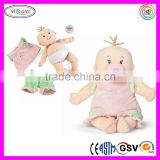 B041 Cute Reborn Baby Doll Toy Stuffed Animal Soft Underwear Baby Doll with Pacifier