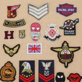 Fashion mixed embroidered badge applique patch for women clothing
