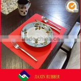 Custom logo restaurant tables placemats heating silicone food pads dinning mats