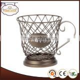 2014 Hot sale metal scroll coffee pod holder,coffee cup holder, coffee capsule holder