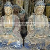 hand carved wooden buddism sculpture Sakyamuni sculpture