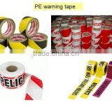 PE Warning Tape with caution