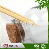 Custom Bbq Barbeque Eco-friendly Natural Flat Round Point High Quality Bamboo Stick