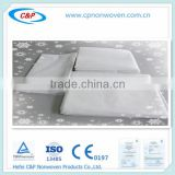 Hot Sale bed sheet ,bed cover with elastic, pillow case for hospital or hotel use with certifications CE&ISO13485