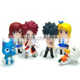 Wholesale custom good quality Fairy tail model action figure toys cute anime PVC figure toy