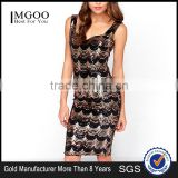 MGOO High Quality Wholesale New Arrival Women Sequin Vestidos China Elegant Evening Dress Bodycon Knee Length Dress #25106036