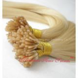 Blonde I-tip(stick) human hair extensions