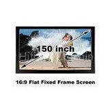 HD 150 Inch Flat Projection Screen 16 To 9 For Home Theatre Projector