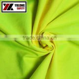 EN11612 EN20471 Fluorescent Yellow Flame Retardant Fabric For Warning Clothing