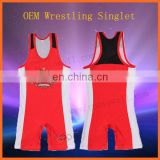 Runtowell 2013 Plain Wrestling Singlet For Custom Design/custom made wrestling singlets