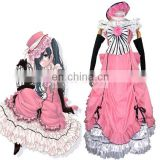 Rose team-Free Shipping Black Butler Kuroshitsuji Ciel Phantomhive Pink Lolita Dress Anime Sexy Halloween Carnival Costume