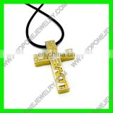 2014 Latest Design 18K gold filled crosses pendants necklace for men China Best Steel Jewelry Manufacturer