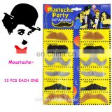 Party holiday Funny Self Adhesive Black Fake artificial beard mustache for Halloween wholesale MOU-2478