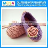 Crochet Baby Girl Mary Jane's, baby booties, crochet shoes, Baby Girl Rose Purple Slippers