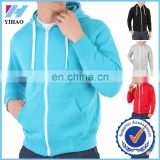 YIhao 2015 new arrival fashion custom men hoodies zip up plain tracksuit sports hoodied jacket tops for men