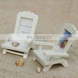 """Beach Memories"" Miniature Adirondack Chair Place Card Holder"