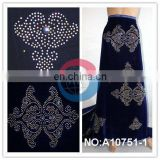 cheap nigeria velvet lace beaded for dresses