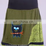 Beautiful Crochet Owl In Hazel Green Floral Print Skirt HHCS 110 A
