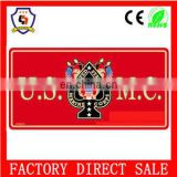 Hottest! High quality illuminated license plate,factory price wholesale red decorative license plate framesHH-licence plate-61