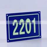 Top Quality Changeable Number Style And Aluminum Type Custom Made High Grade Metal Luminous Sign For Building