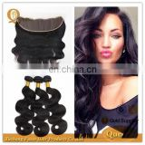 Cheap Human Hair Frontal Lace Closure with Bundles