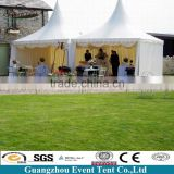 White Wedding Outdoor High Peak Pavilion Pagoda Tent Decorated With Curtains & Linings
