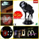 2016 Latest design popular logo projector flashlight