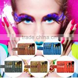 Shinning colorful private label cute cosmetic makeup brush set roll bag wholesale