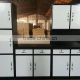 Steel kitchen cabinet with laminar flow design