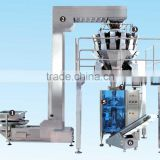 Automatic 10 Head SIEMENS/Allen-Bradley PLC multihead combination weigher scale for Pasta,Chips,Sliced food packaging machine