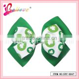 High quality grosgrain ribbon bow clover goody hair accessories for brand promotion (SYC-0047)