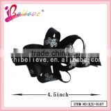 2015 Chinese products wholesale ribbon flower hair barrette,black hair jewelry for lady