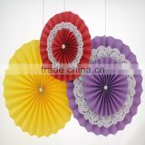 New! Hanging Decorative Double Layers Paper Fans High Quality Paper Flower Decorative Paper Products