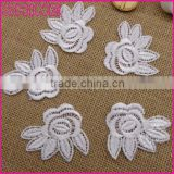China factory cheap 5.5*5cm sew on DIY kids clothes accessory nylon embroidery flower patch