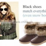 CATWALK-B-14055 boots shoes canada winter snow boots for women warm plush women snow boots white fur