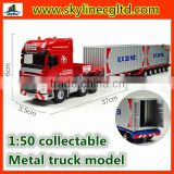 Wholesale OEM 1:50 Diecast heavy retractable flat truck models                                                                         Quality Choice